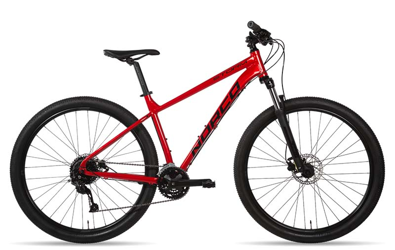 basic mountain bike in red